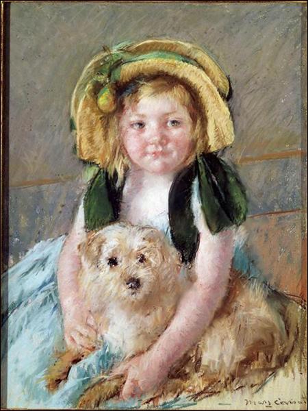 """Qui a peint """"Sara avec son chien"""" ?"""