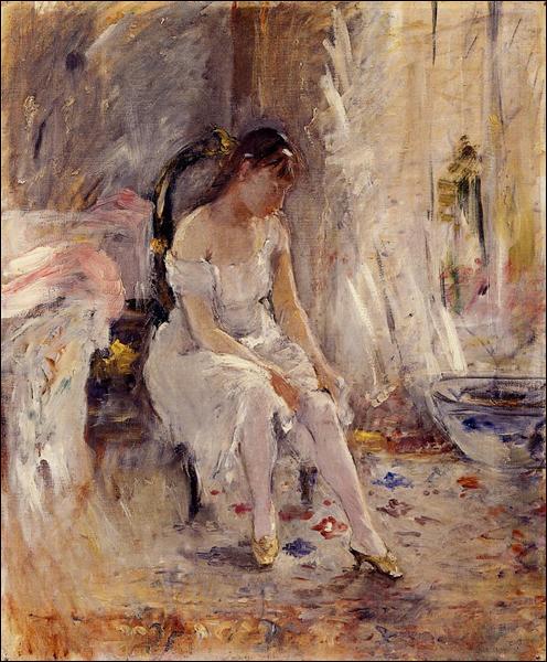 """Qui a peint """"Jeune fille mettant ses bas"""" ?"""