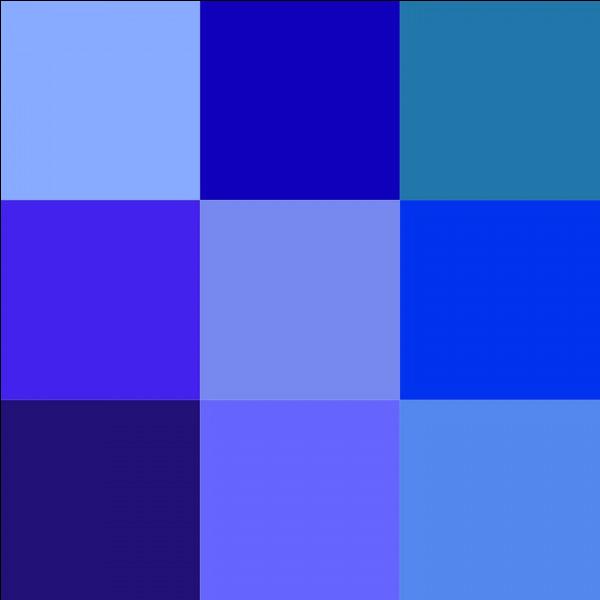 Lequel de ces mots désigne une nuance de bleu ?