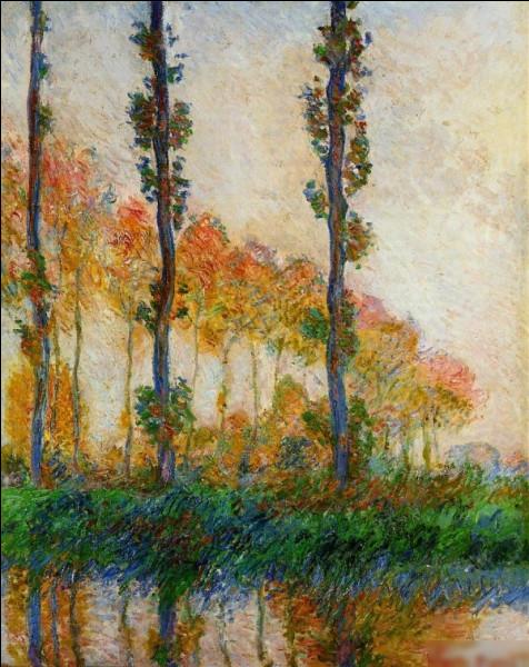 """Quel peintre impressionniste du XIXe est l'auteur du tableau """"Peupliers, automne"""" ?"""