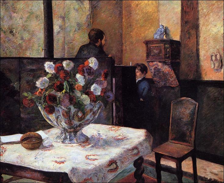 """Qui a peint """"Intérieur de la maison du peintre, rue Carcel"""" ?"""