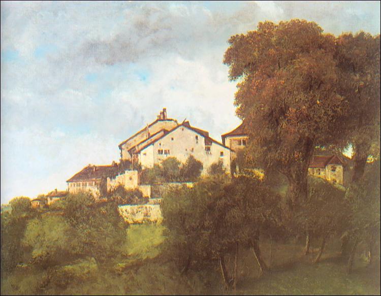 """Qui a peint """"Les Maisons du Château d'Ornans"""" ?"""
