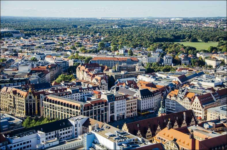 Ville allemande de 570 000 habitants, la plus peuplée du Land de Saxe :