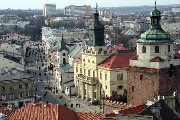 Ville polonaise de 330 000 habitants, située dans l'est du pays :