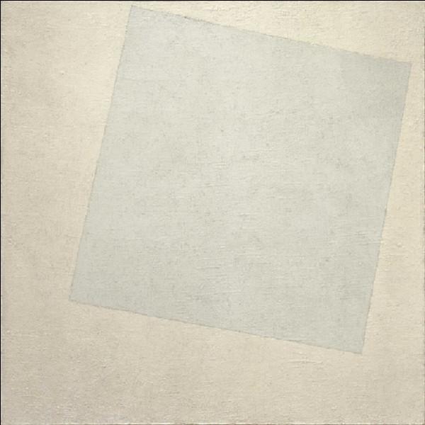 Quel est l'auteur de ce tableau, dont le titre est ''Le Carré blanc sur fond blanc'' ?