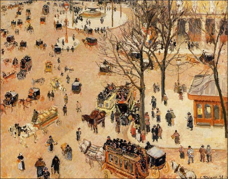 """Qui a peint """"Place du Théâtre Français"""" ?"""