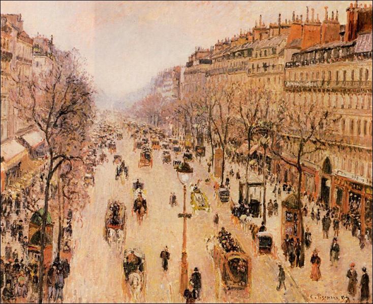 "Qui a peint ""Boulevard Montmartre Matin, Temps Gris"" ?"