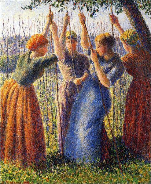 """Qui a peint """"Piquets de plantation paysannes"""" ?"""