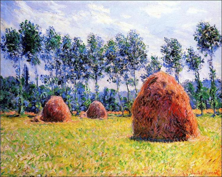 """Qui a peint """"Meules de foin à Giverny"""" ?"""