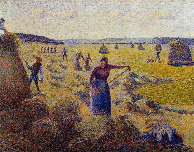 """Qui a peint """"La récolte du foin à Eragny"""" ?"""