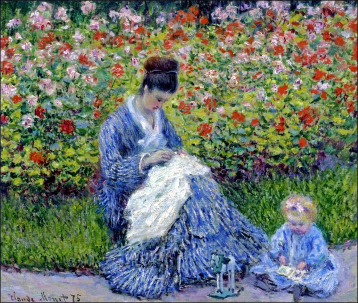 """Qui a peint """"Camille Monet et un enfant dans le jardin de l'artiste à Argenteuil"""" ?"""