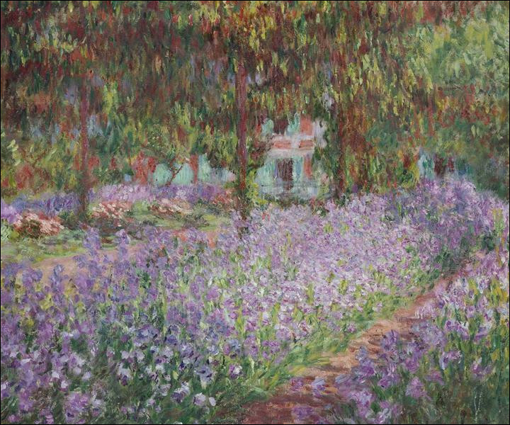 """Qui a peint """"Iris dans le jardin de Monet"""" ?"""