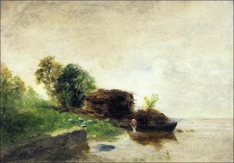 """Qui a peint """"Blanchisseuse au bord de la rivière"""" ?"""