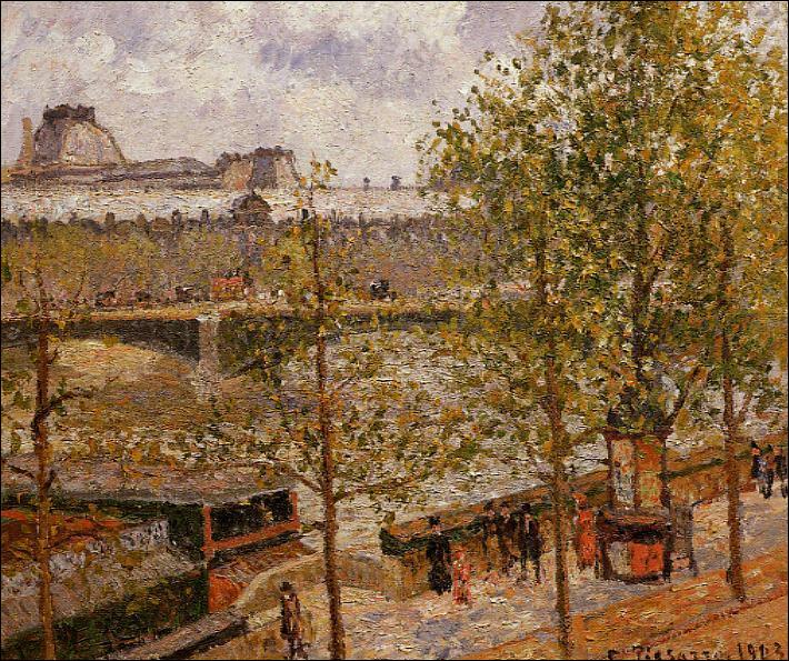 """Qui a peint """"Le Louvre, Matin, Soleil, Quai Malaquais"""" ?"""