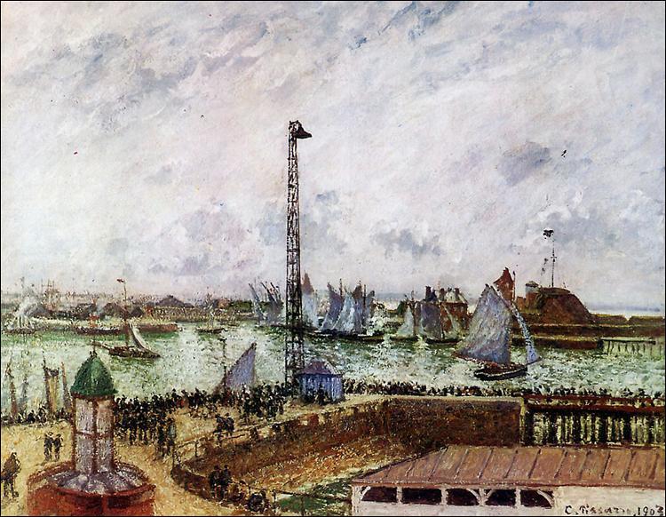 """Qui a peint """"La jetée des pilotes, Le Havre"""" ?"""