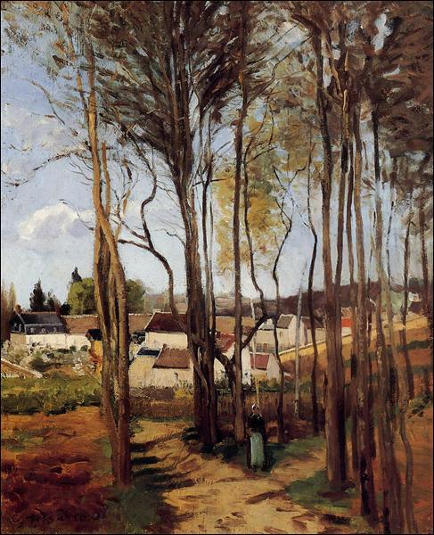 """Qui a peint """"Un village à travers les arbres"""" ?"""