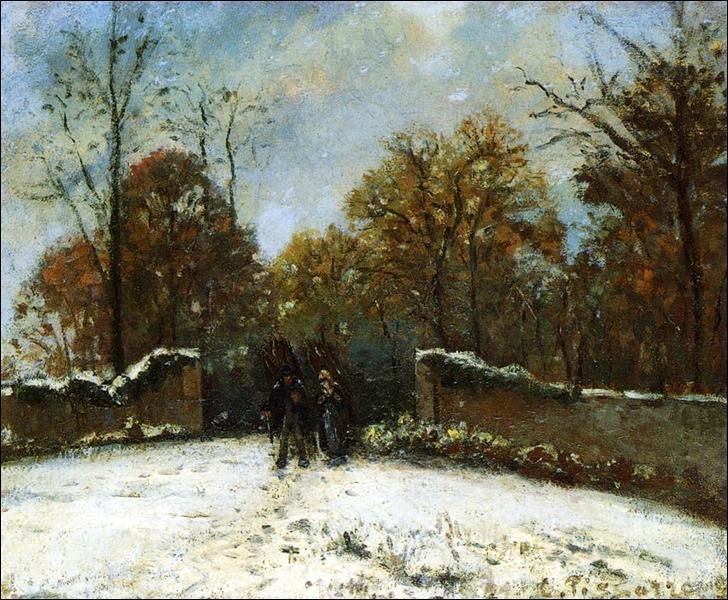 """Qui a peint """"Entrer dans la forêt de Marly (effet neige)"""" ?"""