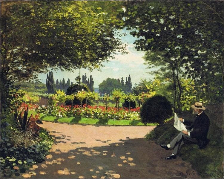 """Qui a peint """"Adolphe Monet lisant dans le jardin"""" ?"""