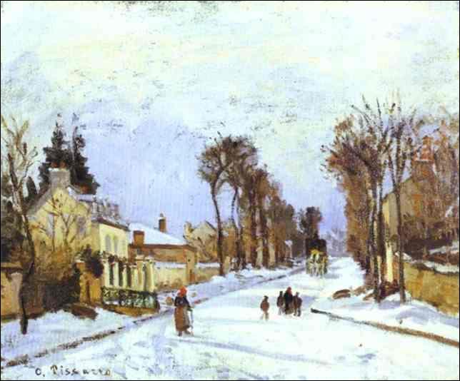 """Qui a peint """"La route de Versailles à Louveciennes"""" ?"""