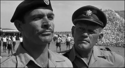 Il est Joe Roberts dans ce premier des cinq films tournés avec Sydney Lumet, où cinq soldats anglais qui ont commis des fautes graves sont envoyés dans un camp disciplinaire dans le désert libyen : c'est ...