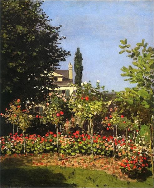 "Qui a peint ""Jardin fleuri à Sainte-Adresse"" ?"