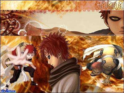 A qui Gaara dédie-t-il le sang de ses victimes dans la première partie du manga ?