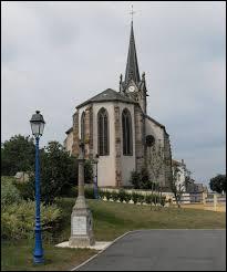 Vous avez sur cette image l'église Saint-Èvre de Juvaincourt. Village Vosgien, il se situe en région ...