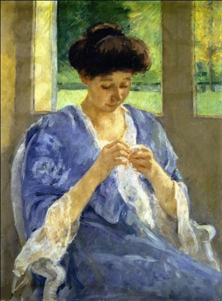 Qui a fait le portrait d'Augusta cousant près de la fenêtre ?