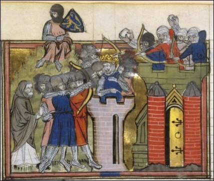 Ce bon Godefroid [lequel ?], ci-devant roi de Jérusalem, avait plutôt la main chaude : il fit tuer juifs, musulmans et même chrétiens d'orient, et fit brûler ... [qui ou quoi donc ?]