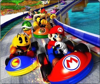 Qui est le petit personnage rond et jaune à côté de Mario ?