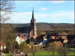 Commune du Grand-Est, dans l'arrondissement de Molsheim, Flexbourg se situe dans le département ...
