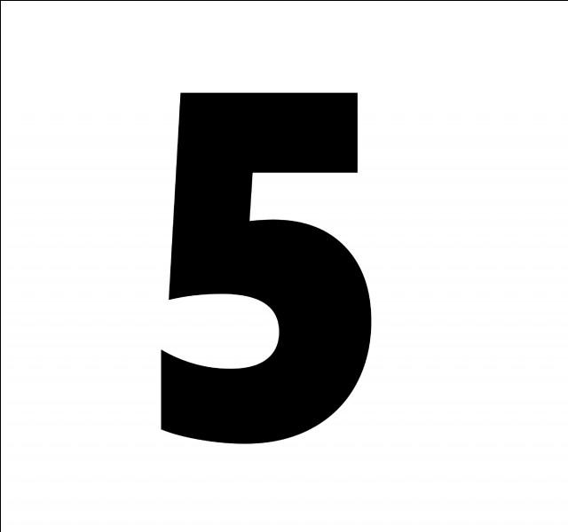 En espagnol, comment traduit-on le chiffre 5 ?