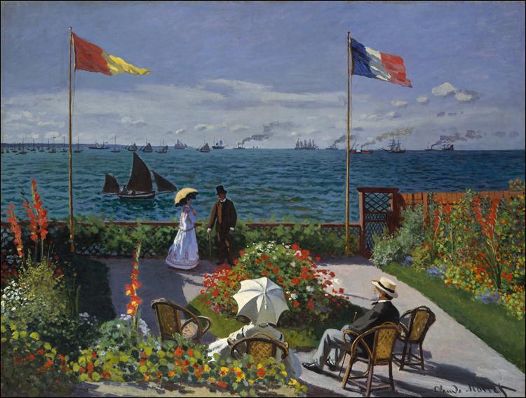 "Qui a peint ""Jardin à Sainte-Adresse"" ?"