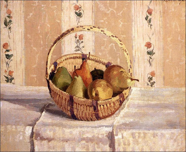 """Qui a peint """"Pommes et poires dans un panier rond"""" ?"""
