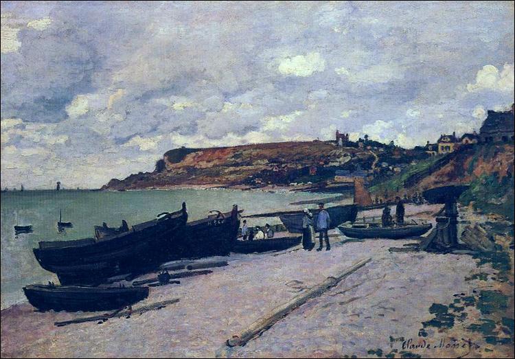 """Qui a peint """"Sainte-Adresse, Bateaux de pêche sur la rive"""" ?"""