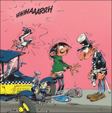 Un autre personnage est récurrent dans cette BD, c'est le flic qui fouine autour de la voiture de Gaston pour lui coller un PV. Quel est son nom ?