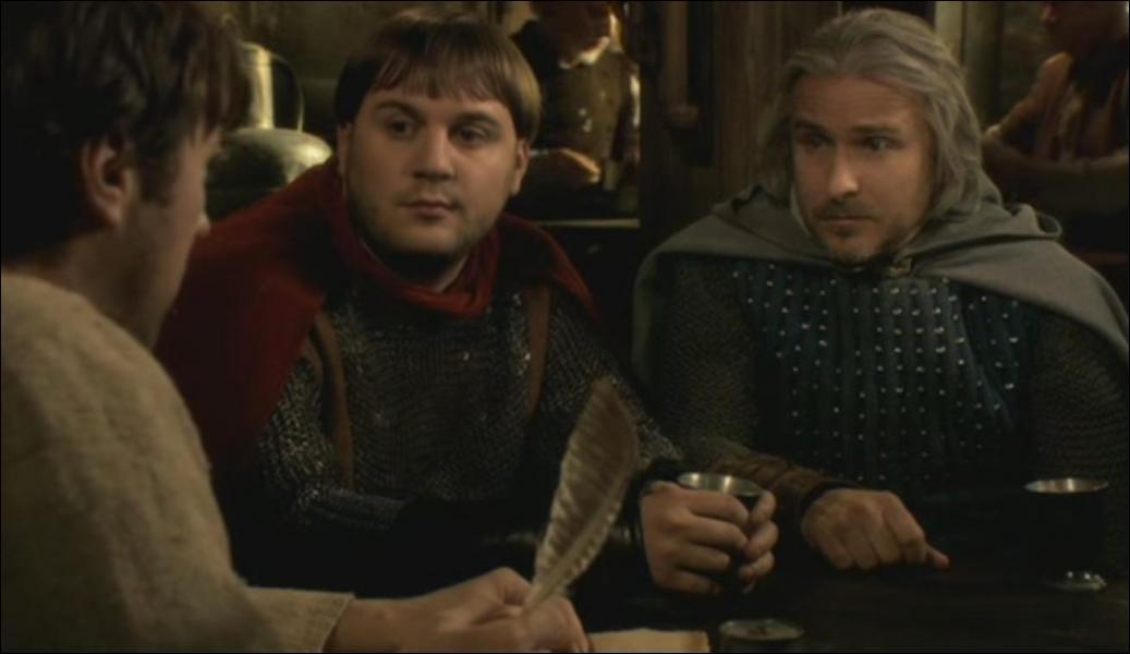Dans la question d'un formulaire lu par le Tavernier à Perceval et Karadoc, quel mot ou groupe de mots ne comprend pas Perceval ?