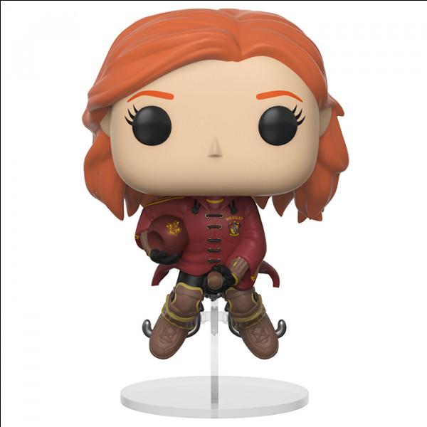 Voici Ginny, mais à quel poste ?