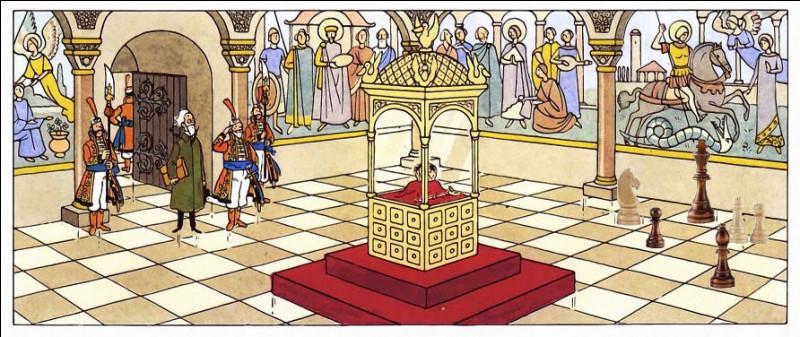 Une petite gâterie pour terminer : n'y a-t-il rien qui cloche, sur cette image de la salle du trésor du château Kropow ?