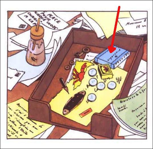Rappelez-vous la marque des cigarettes sur cette case et du nom de l'album celle-ci apparaît ?