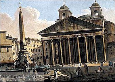 Quel nom romain est inscrit sur le fronton du Panthéon à Rome ?