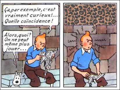 Tintin est en pleine réflexion : mais qu'en ressort-il, sur le papier ?