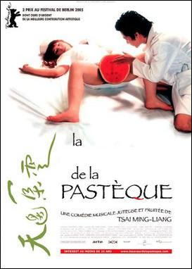Quel est se film de de 2005 qui se déroule à Taïwan où l'eau manque, assoiffé, solitaire, épuisé par la chaleur et le désir, un couple trouve son bonheur dans le jus d'une pastèque ?