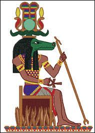 Ce dieu à tête de crocodile s'appelle Sobek.