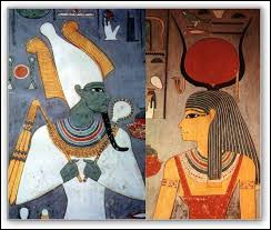 Isis est une déesse qui est la soeur d'Osiris dieu des morts et de la résurrection.