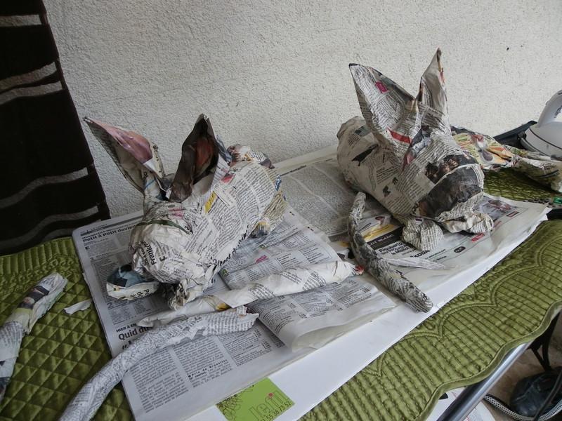 Les animaux en papier mâché ou en carton