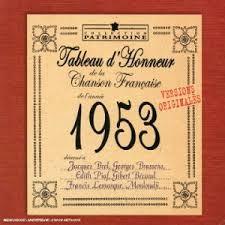 Chansons francophones de l'année 1953