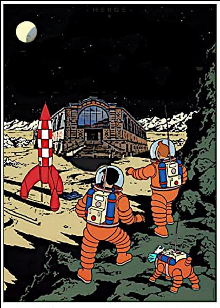 Devant tant de vicissitudes, le père Haddock emmène Tintin sur la Lune pour acheter son whisky... Mais est-ce bien sûr ?