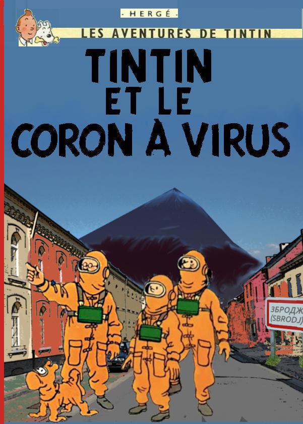 Tintin et le Coron à virus