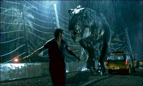 En voyant ce dinosaure, vous pouvez d'ores et déjà déduire qu'il s'agit de Jurassic Park. Mais dans quel opus ce T-Rex semble avoir une dent contre Jeff Goldblum ?